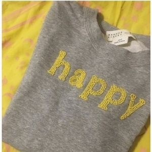 kate spade broome street grey sweater happy size s